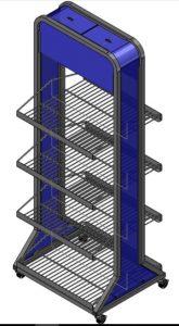 custom wire display rack made in usa