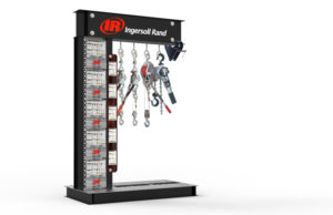 engaging retail display with hanging products from hooks interactive