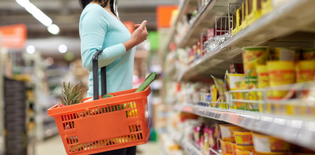 grocery store pop displays for snack food, soap and frozen foods
