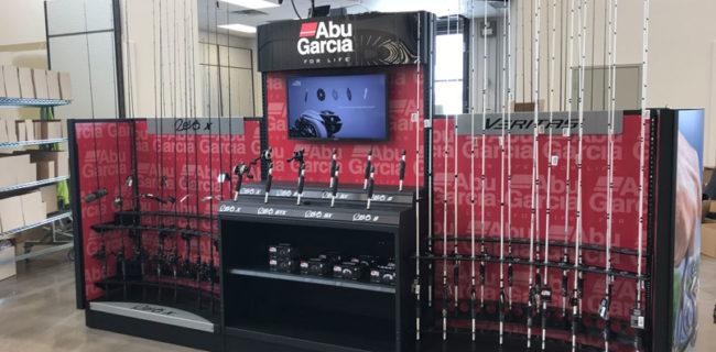 pure fishing custom merchandising display