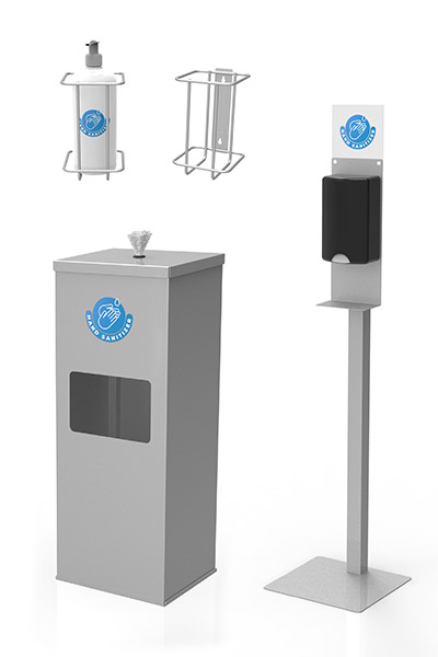 customizable hand sanitizer stations for retail, grocery and offices