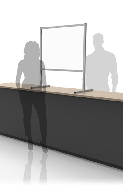 workplace barriers, plexiglass acrylic clear dividers for registers, cashiers transaction windows